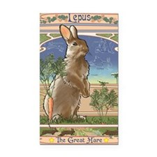 Art Nouveau Rabbit Rectangle Car Magnet