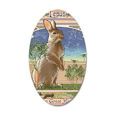 Art Nouveau Rabbit 35x21 Oval Wall Decal