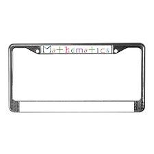 Mathematics License Plate Frame