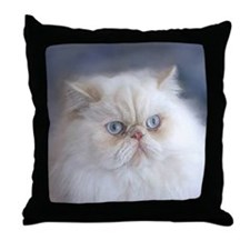 Cute Purring cat Throw Pillow
