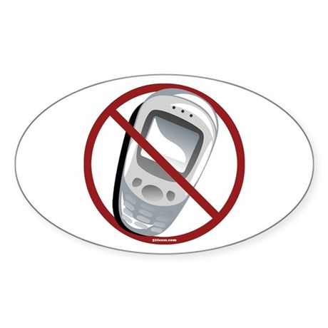 Anti-Cellphone Oval Sticker