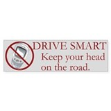 Anti-Cellphone Drive Smart Bumper Bumper Sticker