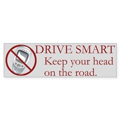 Anti-Cellphone Drive Smart Bumper Sticker
