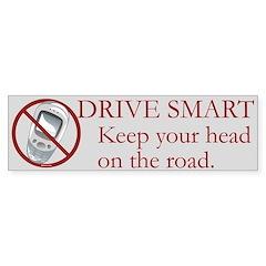 Anti-Cellphone Drive Smart Bumper Sticker