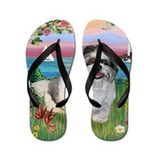Lighthouse - Shih Tzu (M) Flip Flops