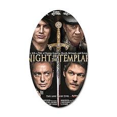 Night of the Templar 11x17 S 35x21 Oval Wall Decal