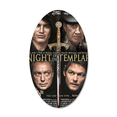 Night of the Templar Black P 35x21 Oval Wall Decal