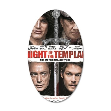 NIGHT OF THE TEMPLAR WHITE P 35x21 Oval Wall Decal