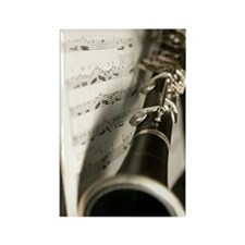 Clarinet and Music Case Rectangle Magnet