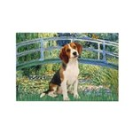 Bridge & Beagle Rectangle Magnet (10 pack)