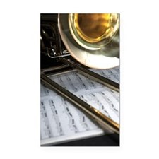 Trombone and Music and Band J Rectangle Car Magnet