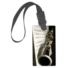 Clarinet and Music band Journal Large Luggage Tag