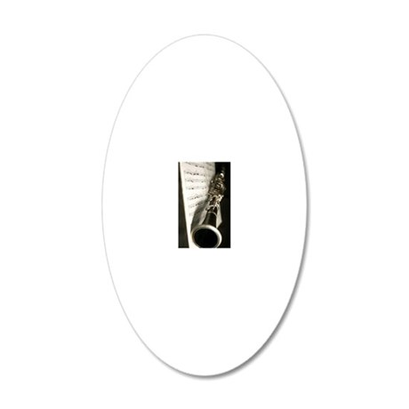 Clarinet and Music band Jour 20x12 Oval Wall Decal