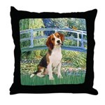 Bridge & Beagle Throw Pillow