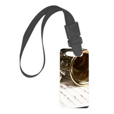 Sax Music and Notes iPhone Case Luggage Tag