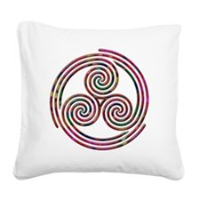 Triple Spiral - 9 Square Canvas Pillow