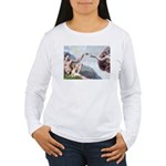 Creation of the Beagle Women's Long Sleeve T-Shirt