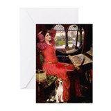 The Lady & her Beagle Greeting Cards (Pk of 10)