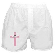SKULL & CROSS PINK Boxer Shorts