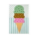 Ice Cream Cone Rectangle Magnet