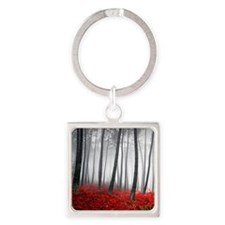 Winter Forest Square Keychain
