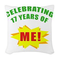 Celebrating Me! 17th Birthday Woven Throw Pillow