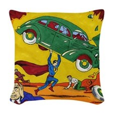 Superman No. 1 Woven Throw Pillow