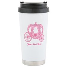 Pink Carriage with Text Travel Mug