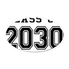 Class of 2030 Oval Car Magnet