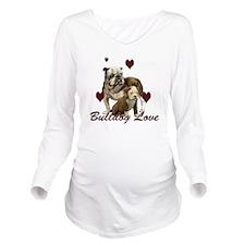 Bullddog Love Long Sleeve Maternity T-Shirt