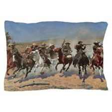 A Dash For Timber by Remington Pillow Case
