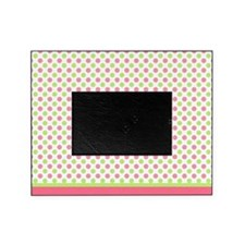 pink and green polka dots Picture Frame