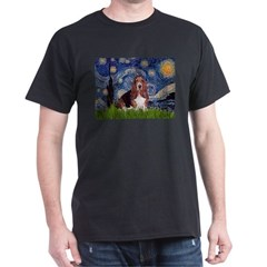 Starry / Basset Hound Dark T-Shirt