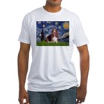 Starry / Basset Hound Fitted T-Shirt