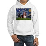 Starry / Basset Hound Hooded Sweatshirt