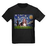 Starry / Basset Hound Kids Dark T-Shirt