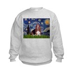Starry / Basset Hound Kids Sweatshirt