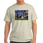 Starry / Basset Hound Light T-Shirt