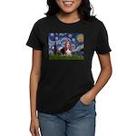 Starry / Basset Hound Women's Dark T-Shirt
