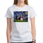 Starry / Basset Hound Women's T-Shirt
