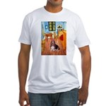 Room with a Basset Fitted T-Shirt