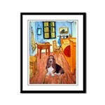 Room with a Basset Framed Panel Print