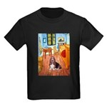 Room with a Basset Kids Dark T-Shirt