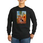 Room with a Basset Long Sleeve Dark T-Shirt