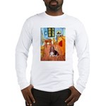 Room with a Basset Long Sleeve T-Shirt