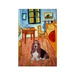 Room with a Basset Rectangle Magnet
