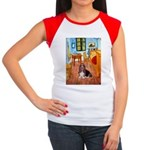Room with a Basset Women's Cap Sleeve T-Shirt