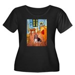 Room with a Basset Women's Plus Size Scoop Neck Da