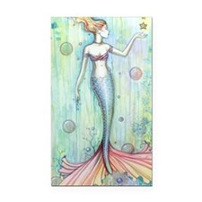 Bubbles Mermaid Fantasy Art b Rectangle Car Magnet