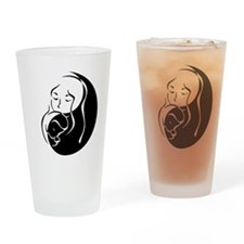Zen Mama and Babe Drinking Glass
